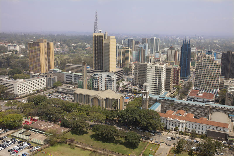 Vue aérienne de Nairobi photo stock