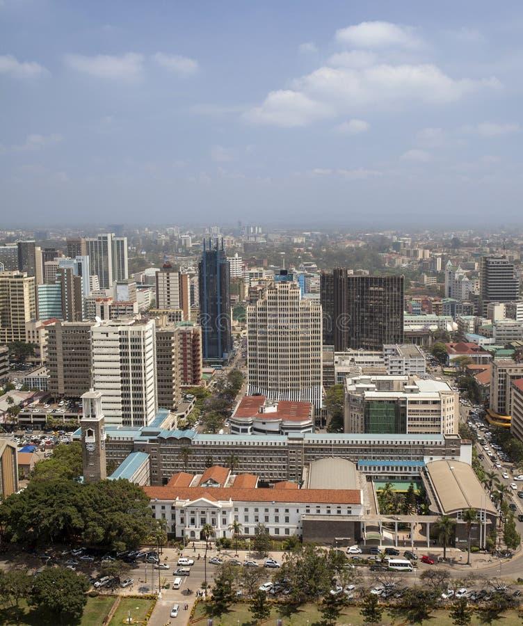 Vue aérienne de Nairobi photos stock