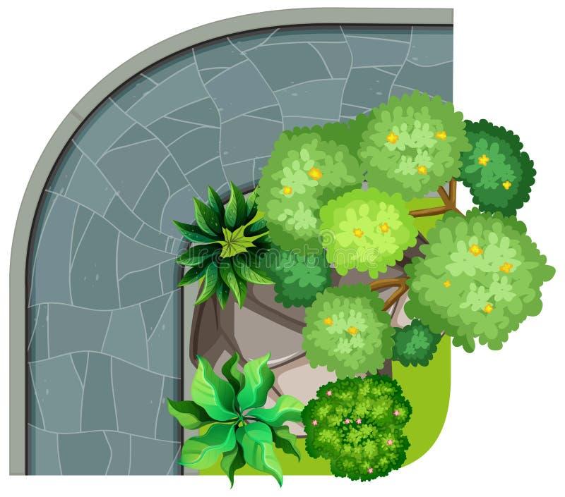 Vue aérienne de nature et de trottoir illustration stock