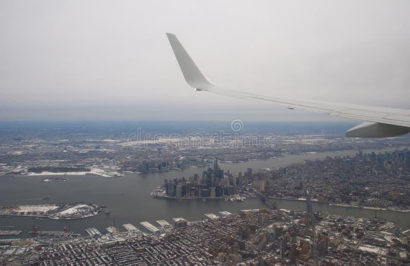 Vue aérienne de New York City photographie stock