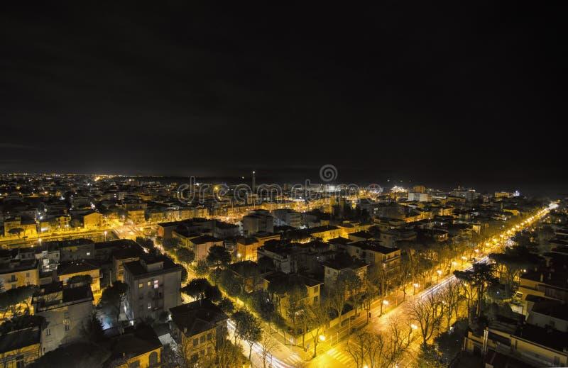 Vue aérienne de nuit de ville photos stock
