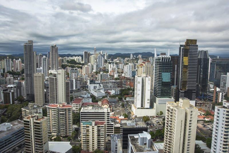 Vue aérienne de Panamá City au Panama photos libres de droits