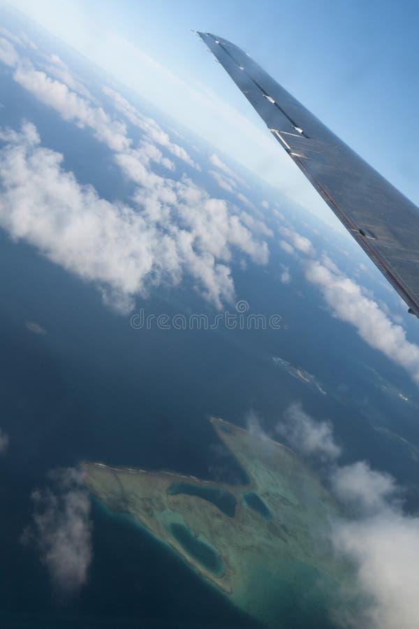 Vue aérienne de paradis tropical du Tonga Polynésie image libre de droits