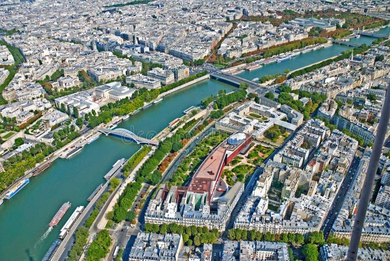 Vue aérienne de Paris photos stock