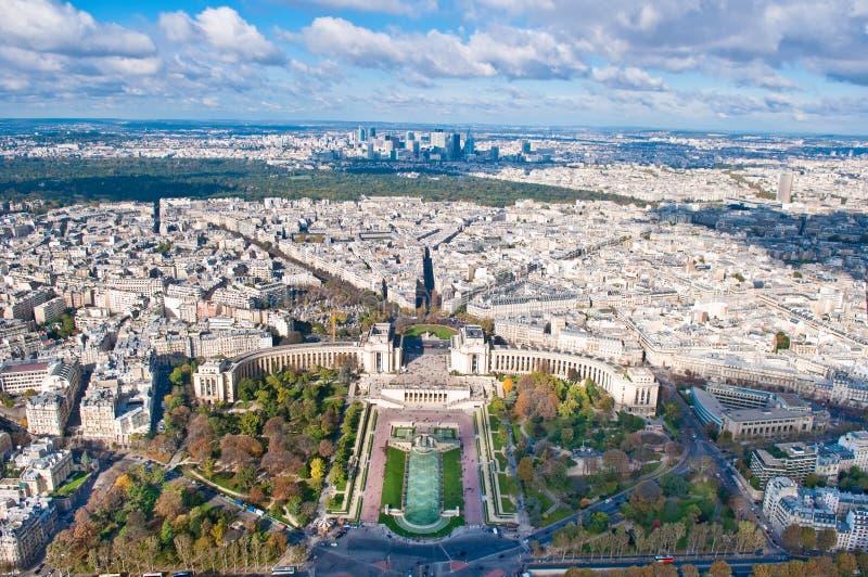 Vue aérienne de Paris, France image stock