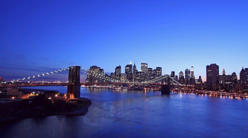 Vue aérienne de passerelle de Brooklyn images libres de droits