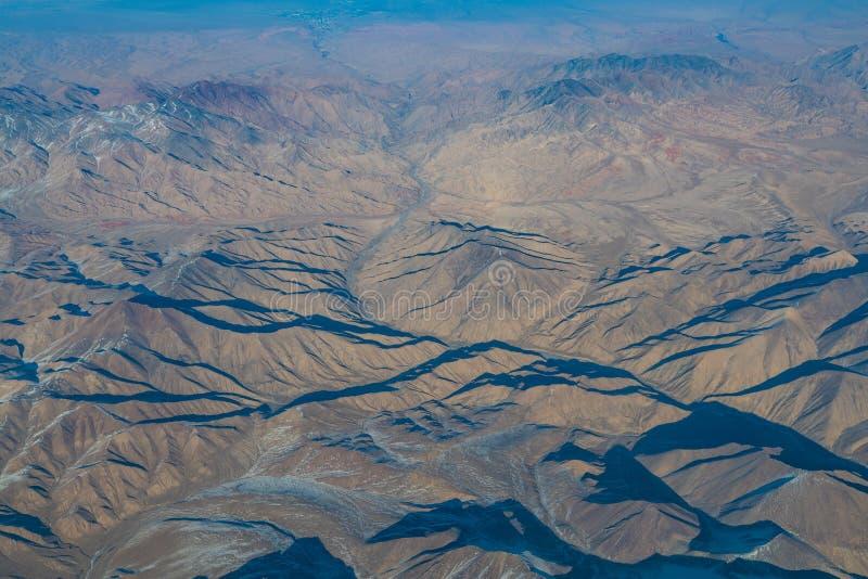 Vue aérienne de paysage dans la partie nord du Xinjiang de la Chine dans W photos libres de droits