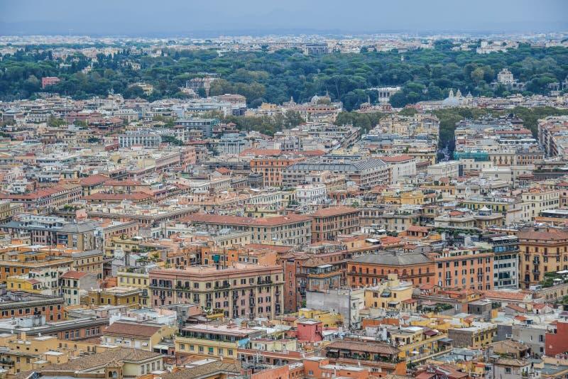 Vue aérienne de paysage urbain de Rome, Italie photographie stock