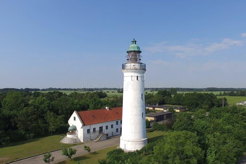 Vue aérienne de phare de Stevns, Danemark photos libres de droits