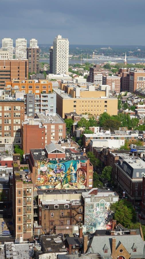 Vue aérienne de Philadelphie images stock