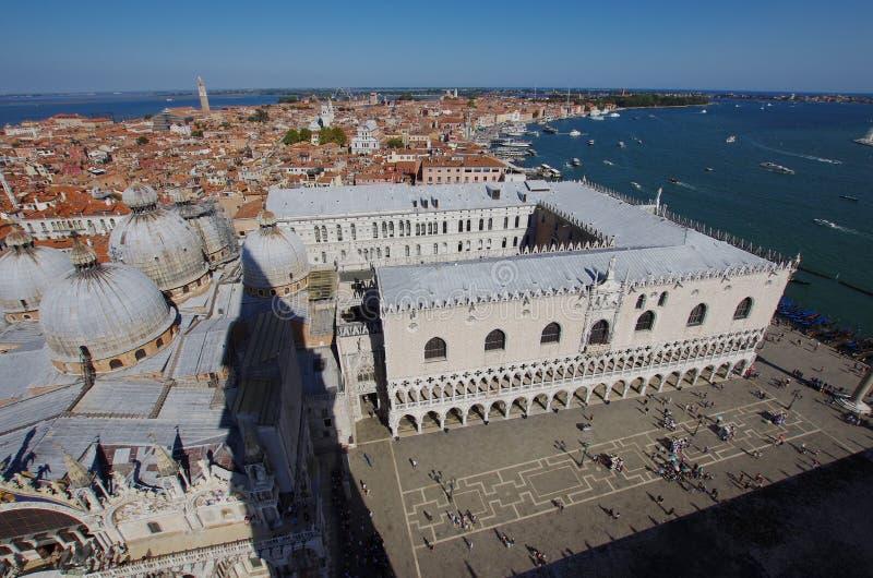 Vue aérienne de place du ` s de StMark à Venise photos libres de droits