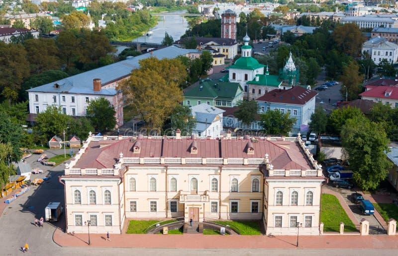 Vue aérienne de place de Kremlin, Vologda, Russie images stock