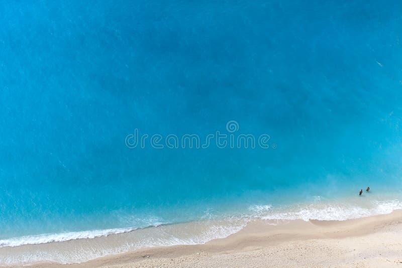 vue aérienne de plage image libre de droits