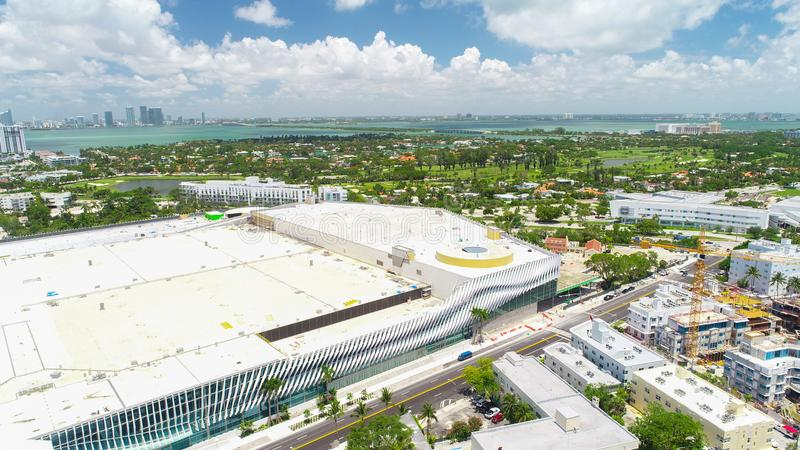 Vue aérienne de plage du sud Miami Beach florida LES Etats-Unis photographie stock libre de droits