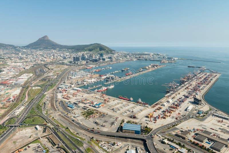 Vue aérienne de port de Cape Town photographie stock libre de droits