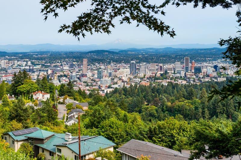 Vue aérienne de Portland image libre de droits
