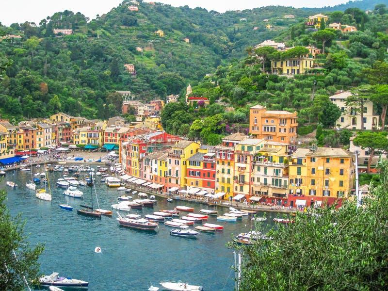 Vue aérienne de Portofino images stock