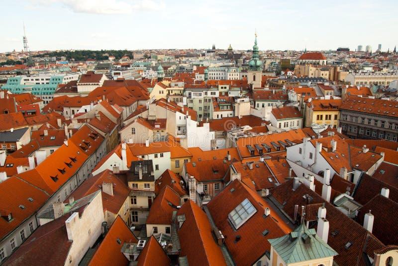Vue aérienne de Prague, République Tchèque photos stock