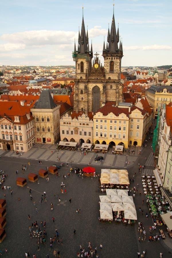 Vue aérienne de Prague, République Tchèque photo libre de droits