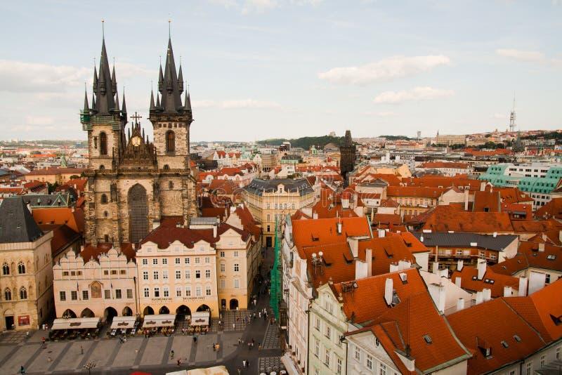 Vue aérienne de Prague, République Tchèque image libre de droits