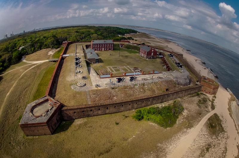 Vue aérienne de repli de fort - la Floride images libres de droits