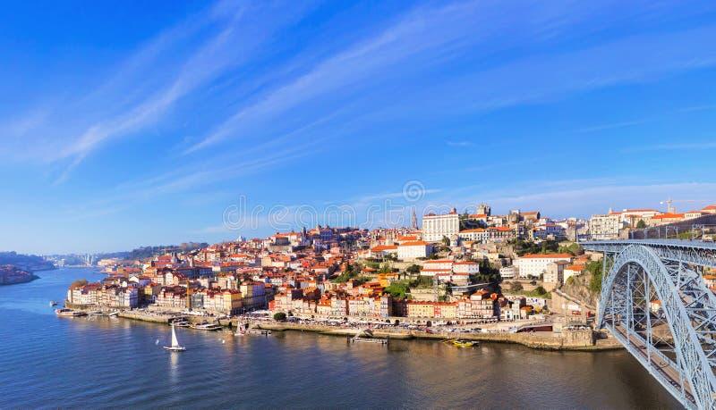 Vue aérienne de Ribeira, Porto, Portugal photographie stock libre de droits