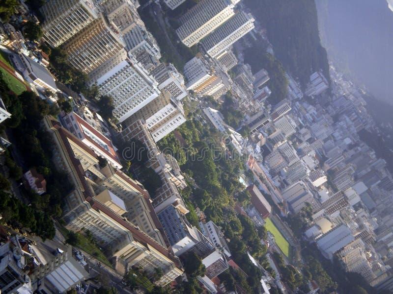 Vue aérienne de Rio de Janeiro images libres de droits