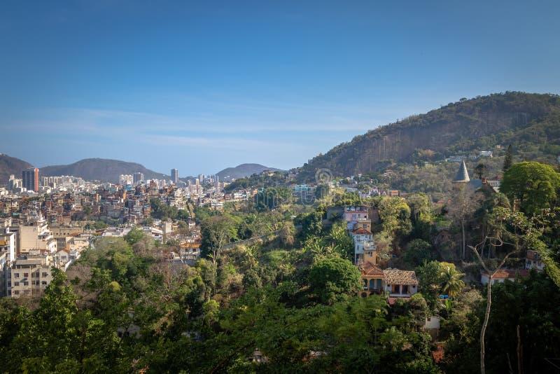 Vue aérienne de Rio de Janeiro du centre de Santa Teresa Hill - Rio de Janeiro, Brésil photos stock