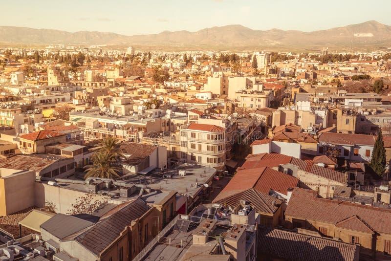 Vue aérienne de rue de Ledra nicosia cyprus photos libres de droits