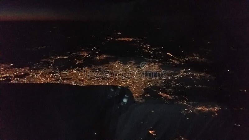 Vue aérienne de São Paulo At Night photographie stock