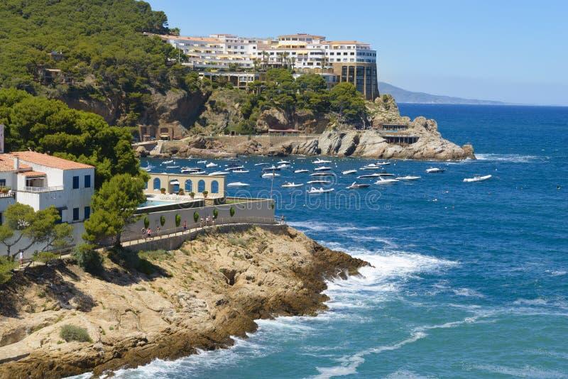 Vue aérienne de SA Tuna Beach Resort Spain photographie stock