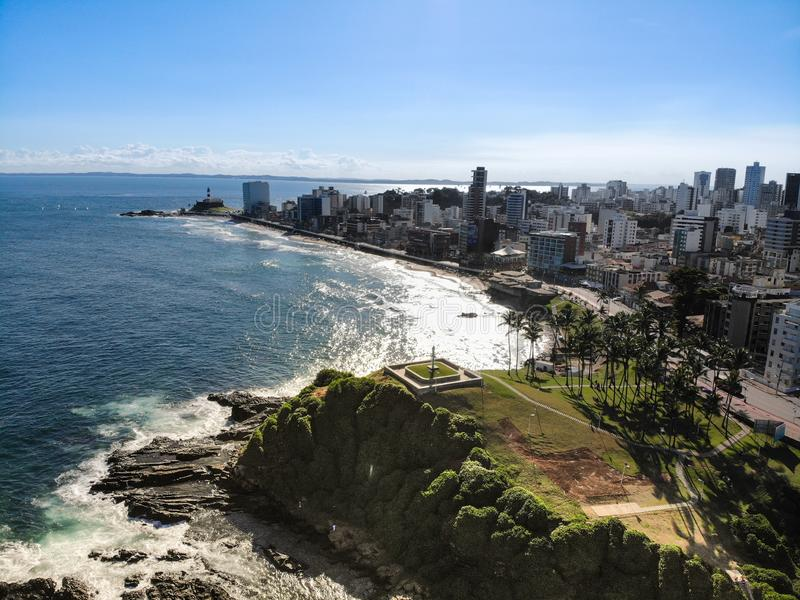Vue aérienne de Salvador, Bahia au Brésil photos stock
