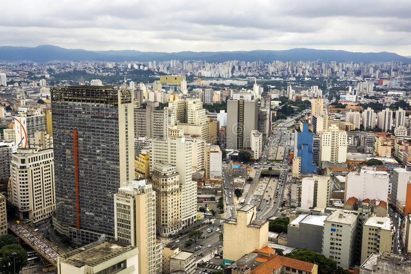 Vue aérienne de sao Paulo Cityscape, Brésil photos stock