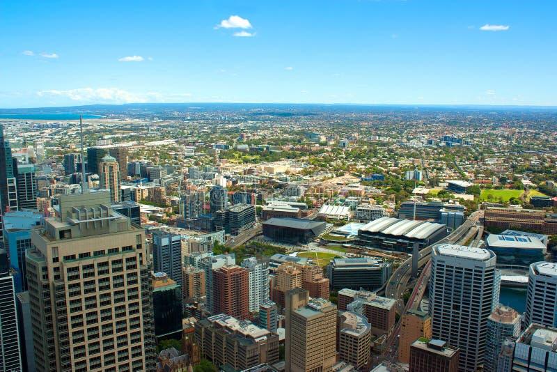 Vue aérienne de Sidney images stock