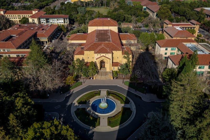 Vue aérienne de Stanford University Campus - Palo Alto, la Californie, Etats-Unis photos stock
