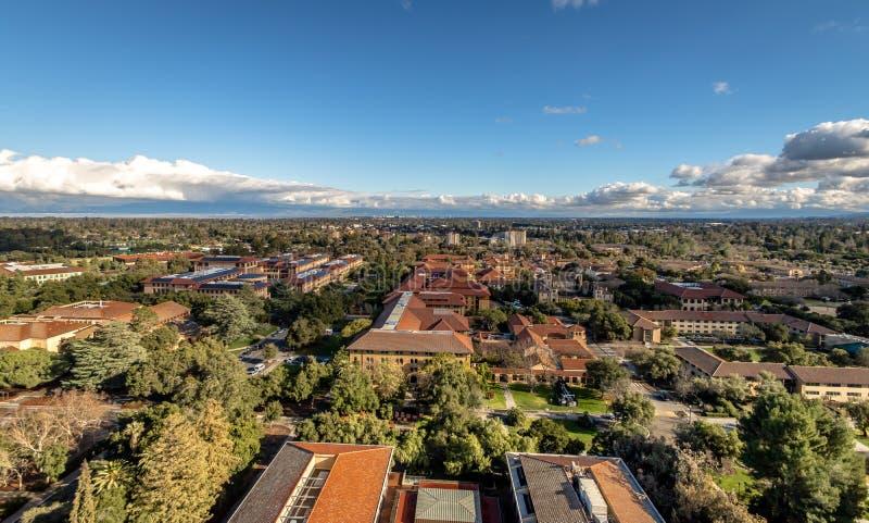 Vue aérienne de Stanford University Campus - Palo Alto, la Californie, Etats-Unis images libres de droits