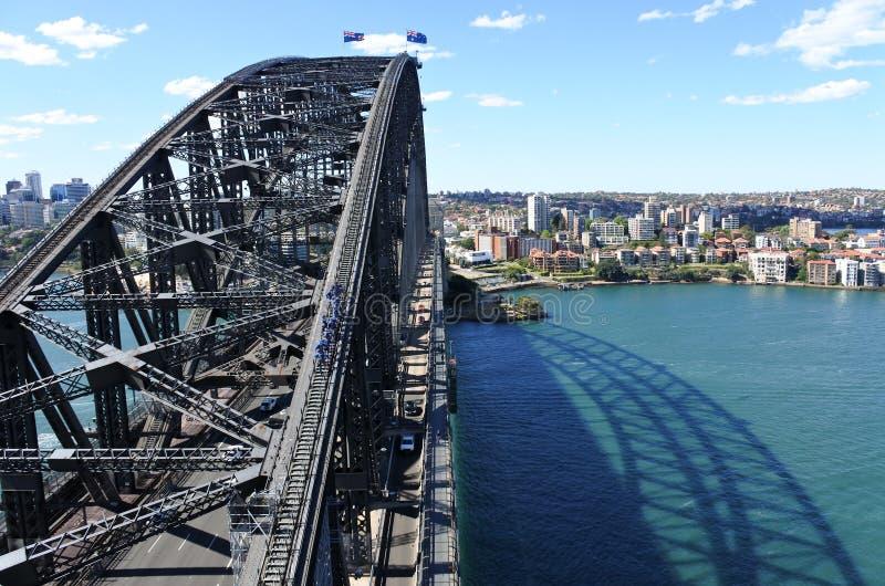 Vue aérienne de Sydney Harbour Bridge image stock