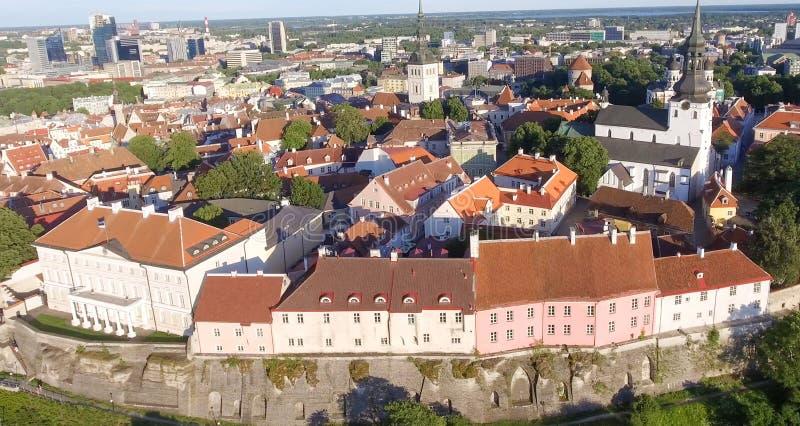 Vue aérienne de Tallinn, Estonie images libres de droits