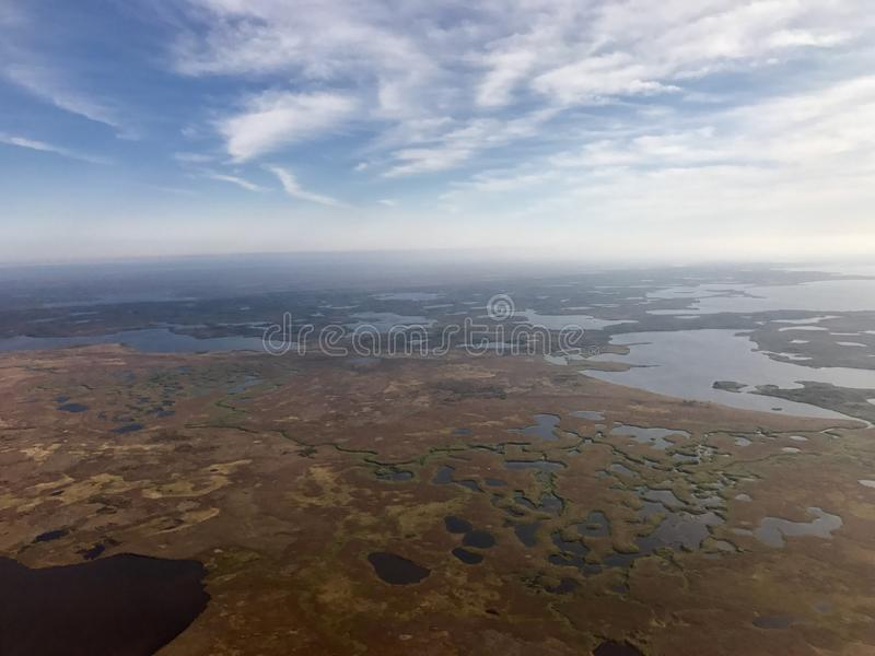 Vue aérienne de toundra photos stock