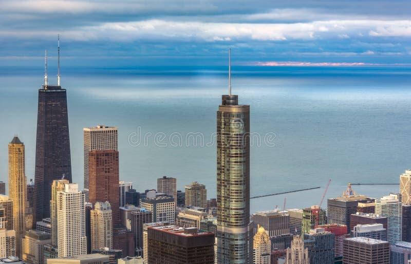Vue aérienne de tour d'atout Chicago photos stock