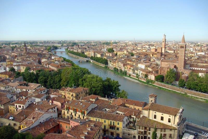 Vue aérienne de Vérone, Italie photographie stock libre de droits