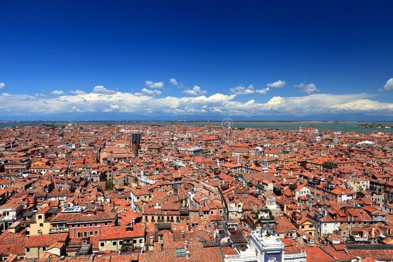 Vue aérienne de Venise image libre de droits