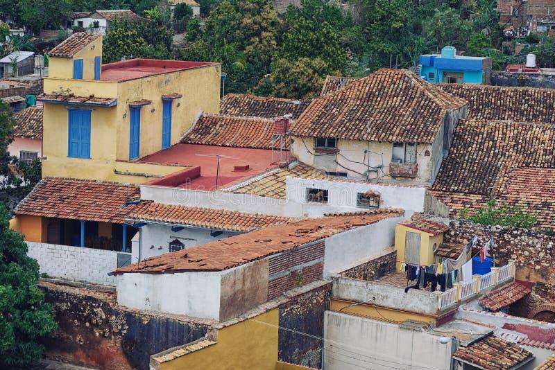 Vue aérienne de vieux toits images libres de droits
