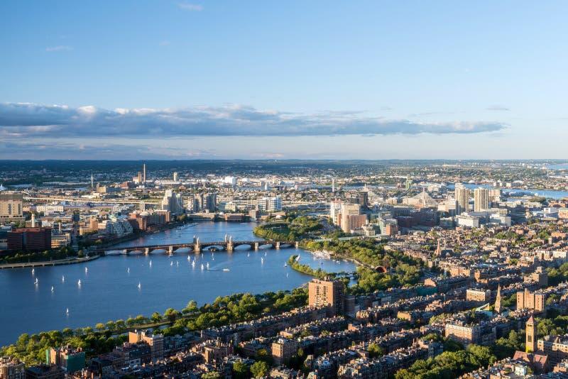 Vue aérienne de ville de Boston, Etats-Unis photographie stock