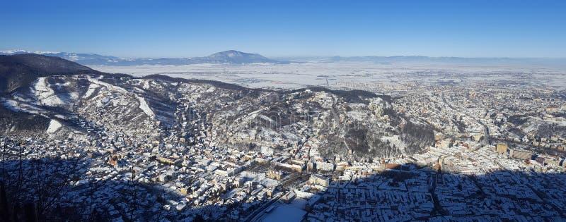 Vue aérienne de ville de Brasov, Roumanie images stock