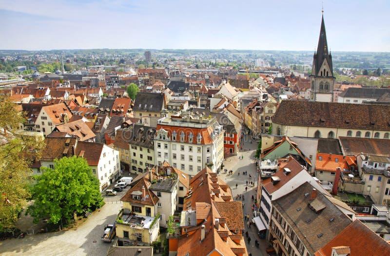 Vue aérienne de ville de Constance, Allemagne image stock