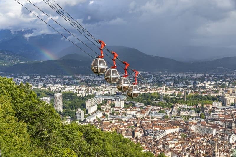 Vue aérienne de ville de Grenoble, France photo stock
