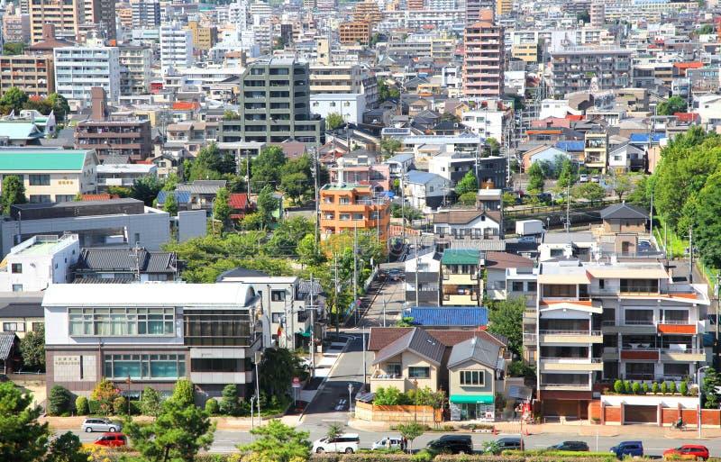 Vue aérienne de ville de Nagoya image stock