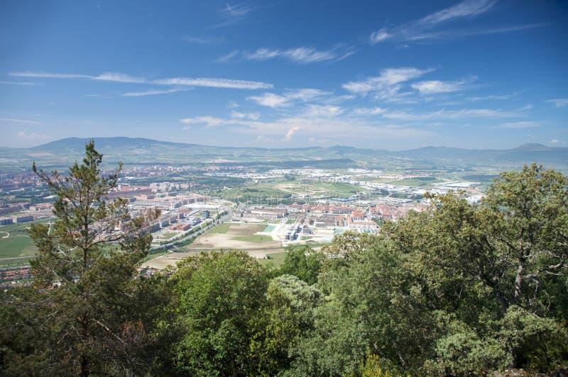 Vue aérienne de ville de Pamplona image libre de droits