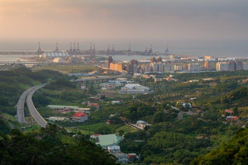 Vue aérienne de ville de Taïpeh photos libres de droits